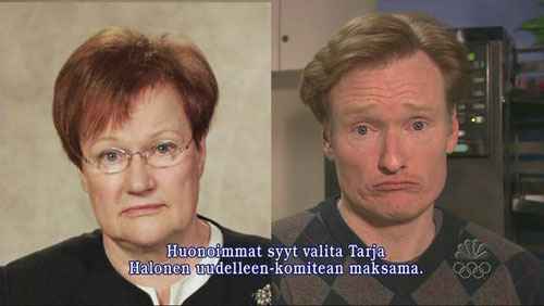 That's Tarja on the left, Conan on the right